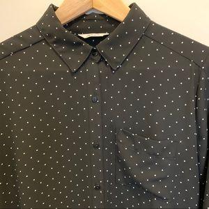Reitmans Polka Dots black long shirt/tunic
